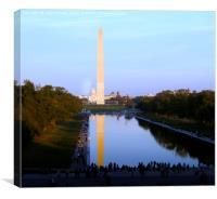 Washington Monument and Reflecting Pool, Canvas Print