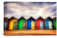 Blyth Beach Huts, Canvas Print