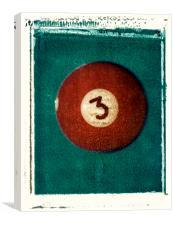 No. 3 Ball Polaroid Transfer, Canvas Print