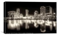 Media City, Salford Quays No. 3, Canvas Print