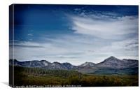 The Goatfell Mountain range, Isle of Arran., Canvas Print