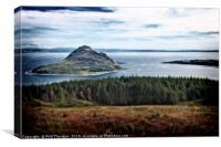 View of Holy Island, from The Isle of Arran., Canvas Print