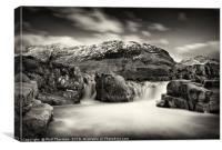 Waterfall on the River Etive, No. 2., Canvas Print
