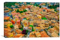 Rooftops, Canvas Print