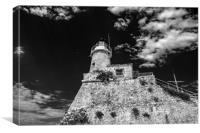Lighthouse (noir), Canvas Print