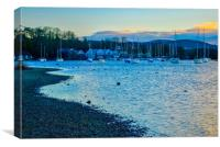 Windermere at Dusk, Canvas Print