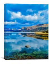 Reflections on Derwent Water, Canvas Print