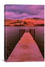 Twilight over Derwent Water, Canvas Print