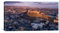 Sunrise over Edinburgh Castle, Canvas Print