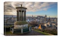 The view from Calton Hill, Edinburgh, Canvas Print