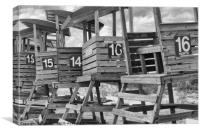 Life Guard Chairs, Canvas Print