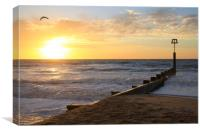 Coastal holiday perfect sunrise over the ocean, Canvas Print