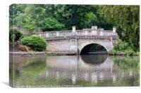 Bridge at Pittville Park, Cheltenham, Canvas Print