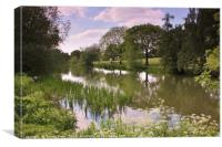 Pittville Park Lake, Cheltenham, Canvas Print