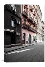 Pink and Grey Buildings, Canvas Print