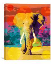 Elephant Pop, Canvas Print