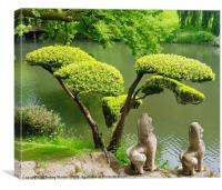 Japanese gardens in the Loire Valley, Canvas Print