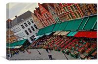 Bruges Markt in Bruges, Belgium, Canvas Print