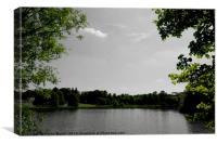A lake near Buscot, Oxfordshire, Canvas Print