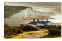 Coastguard Cottages, Canvas Print