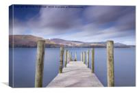 Ashness Jetty, Derwentwater, Lake District. UK, Canvas Print