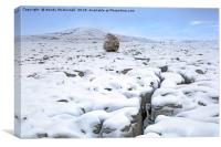 Twistleton Scar, Yorkshire Dales, England, UK, Canvas Print