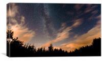 The Milky Way Through Broken Cloud, Canvas Print