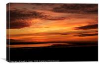 Lytham Sunset, Canvas Print