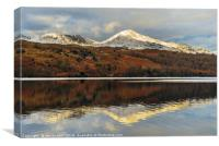 Coniston Water reflections, Canvas Print