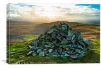 Cairn on Castle Knott, Canvas Print
