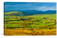 The Lune valley from Holme Knott., Canvas Print