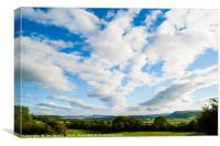Clouds over the Lyth Valley, Canvas Print