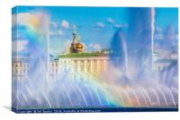 Fountains and Winter Palace, Canvas Print