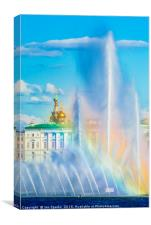 Fountains and Winter Palace 2, Canvas Print