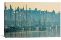 Early morning sculler, Stockholm, Canvas Print