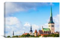 Old Town Tallinn skyline, Canvas Print