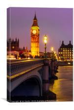Evening on Westminster Bridge, Canvas Print