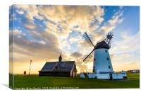 Windmill and Old Lifeboat House, Canvas Print