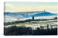 Heptonstall Church and Stoodley Pike, Canvas Print