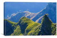 Ridges on Madeira, Canvas Print