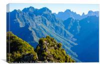 Madeira mountains, Canvas Print