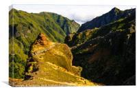 Ridges below Pico Ruivo, Canvas Print