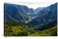 Curral das Freiras valley overlook, Canvas Print