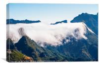 Clouds spill over Encumeada, Canvas Print