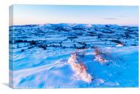 Snow on Jeffrey Hill, Canvas Print