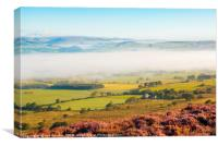 Morning mist, Loud valley 1, Canvas Print