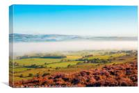 Morning mist, Loud valley 2, Canvas Print