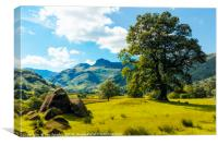 Langdale Pikes from Copt Howe 1, Canvas Print