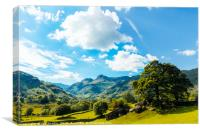 Langdale Pikes from Copt Howe 2, Canvas Print