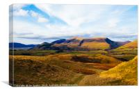 Skiddaw from Naddle Fell, Canvas Print